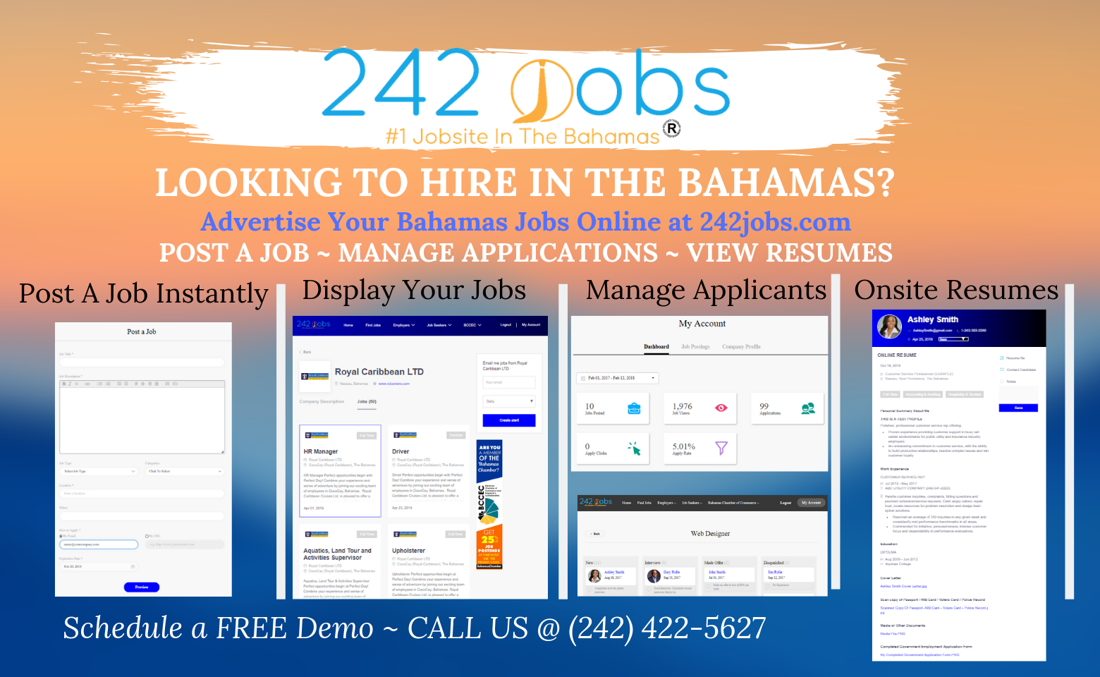 Find or Post Jobs Online In The Bahamas